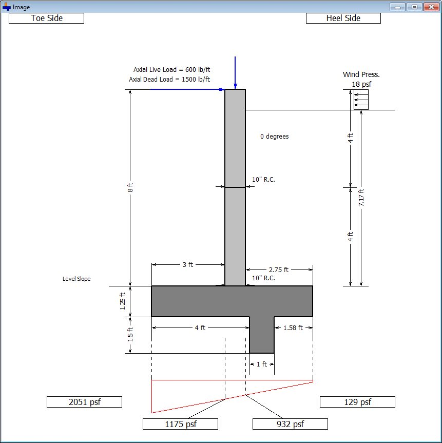 design of retaining wall example pdf