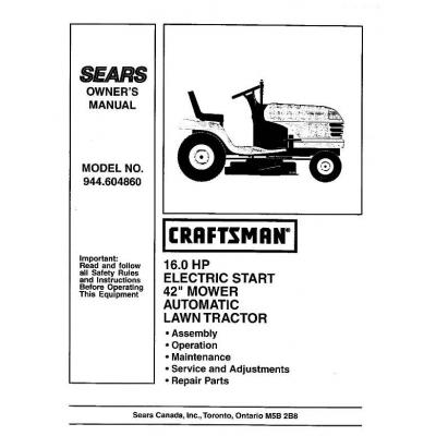 craftsman lawn mower manual