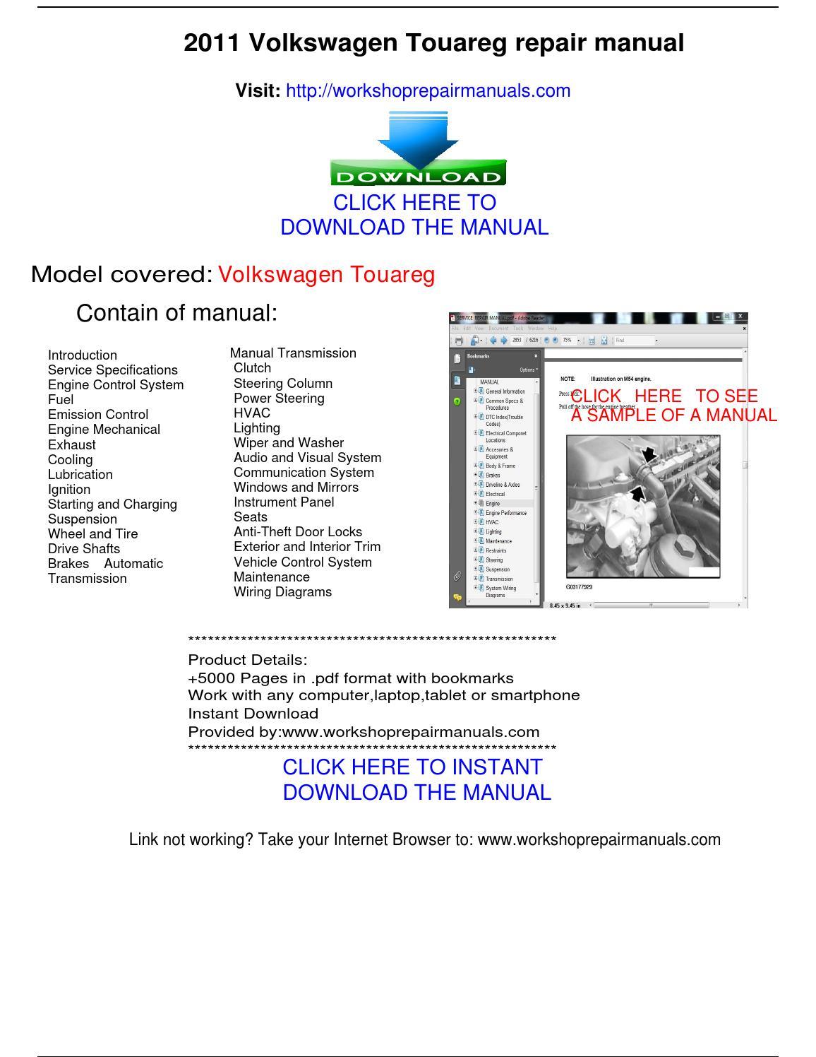 2011 touareg service manual