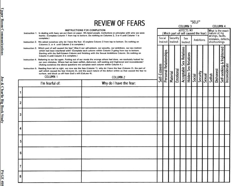 acoa 12 step workbook pdf
