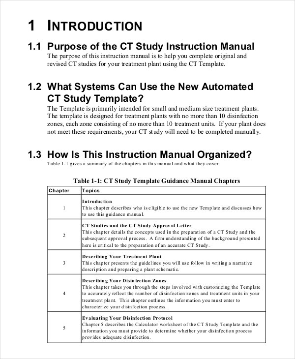 creating a training manual template