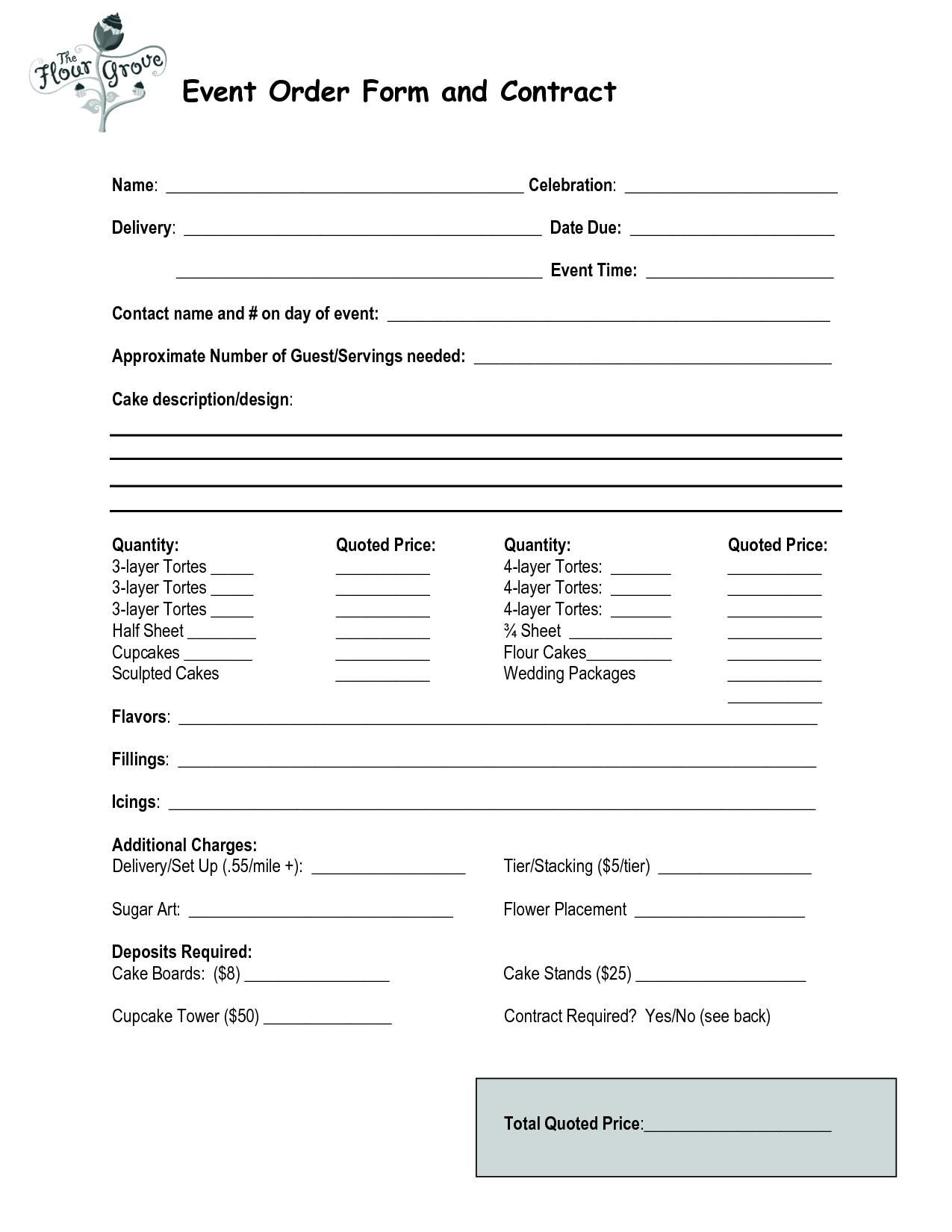 cake order form pdf