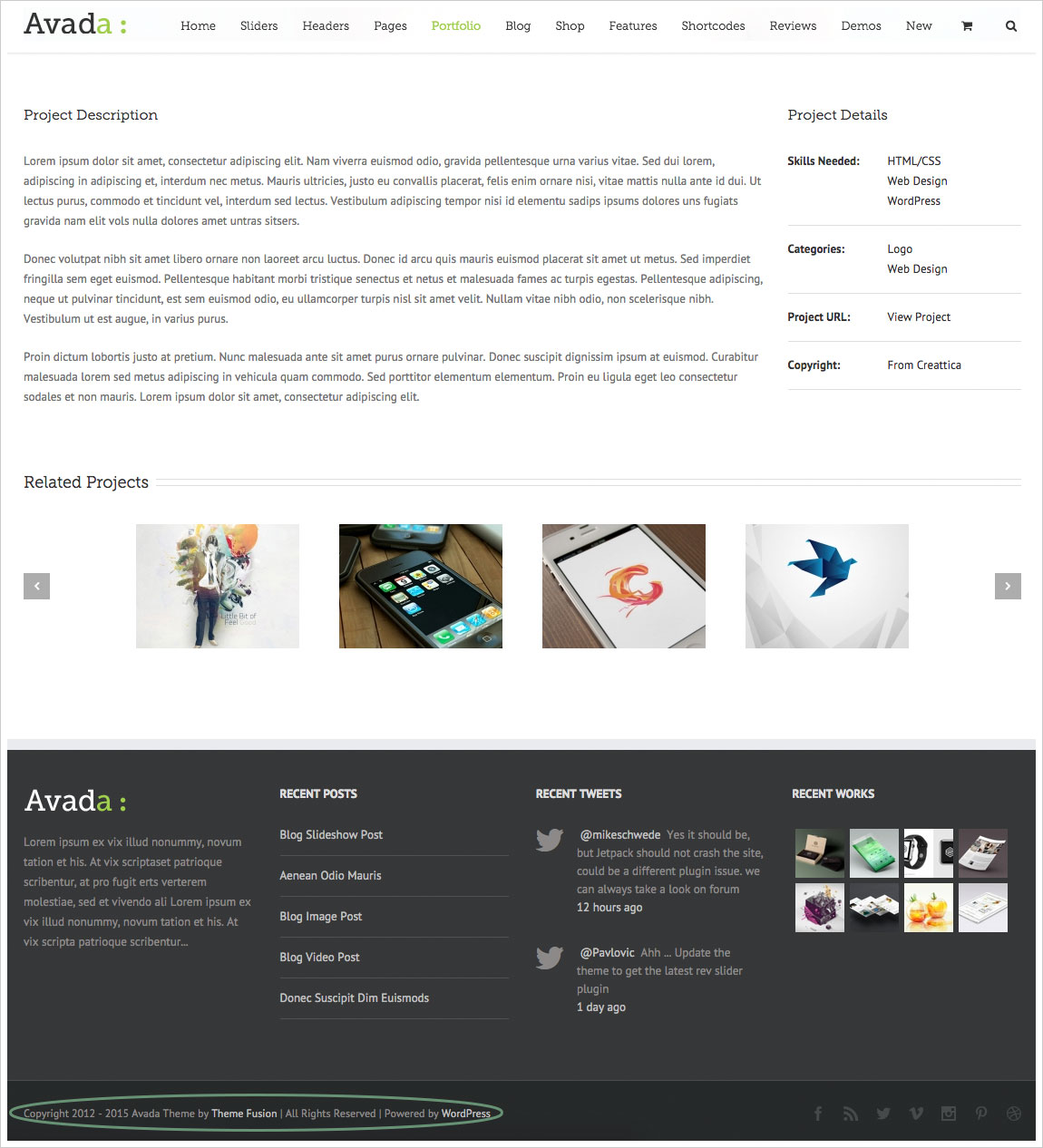 copyright sample for website
