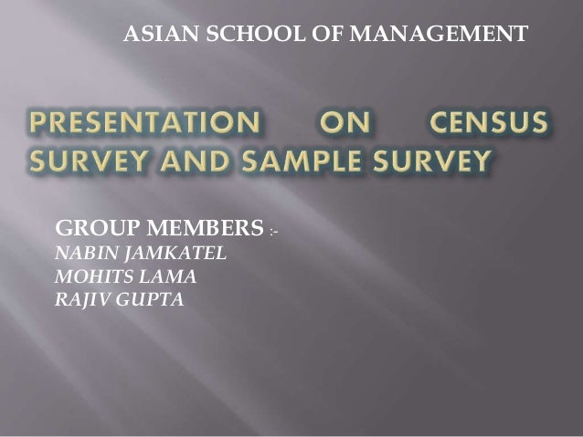 difference between population survey and sample survey