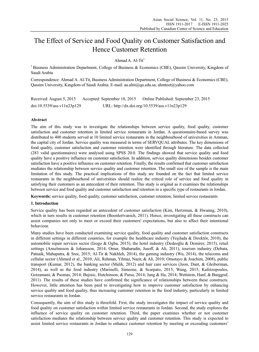 customer retention pdf