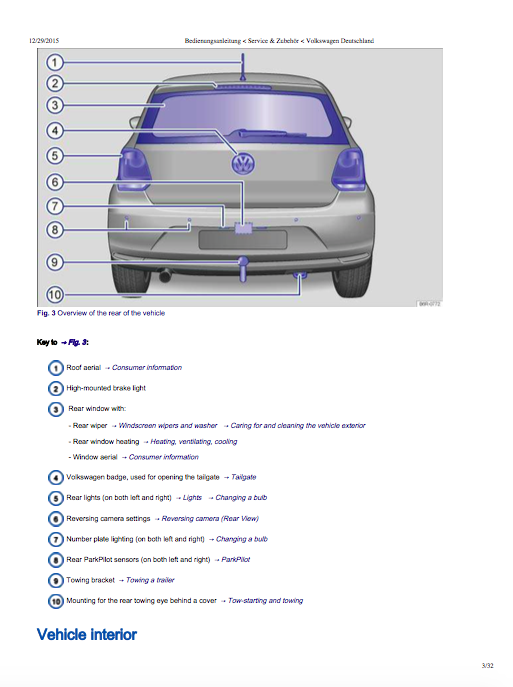2018 polo owners manual