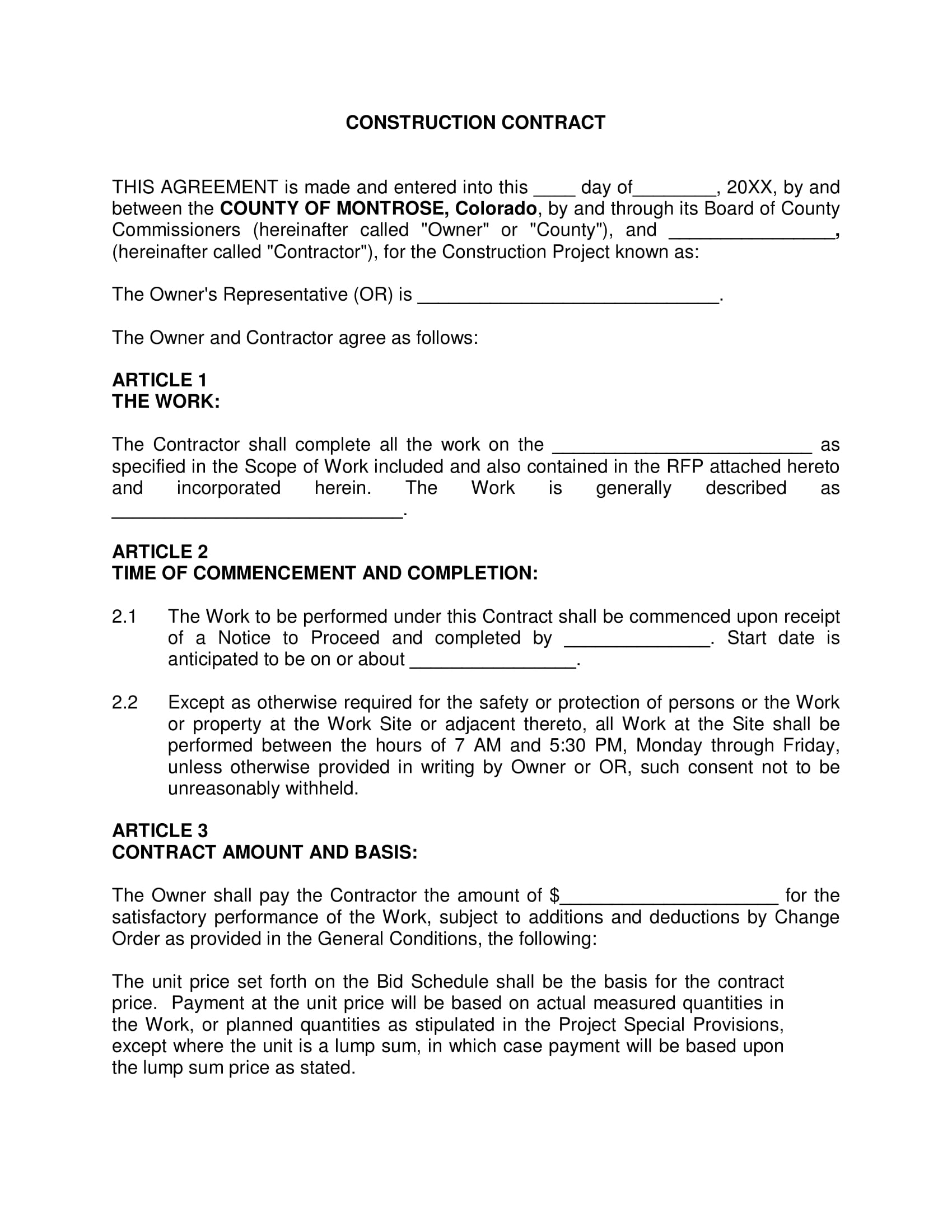 agreement letter sample for building