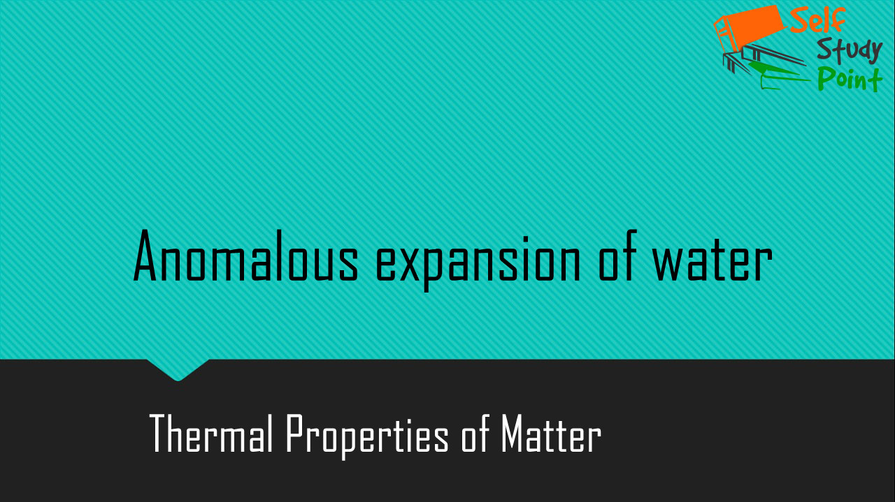 anomalous expansion of water pdf