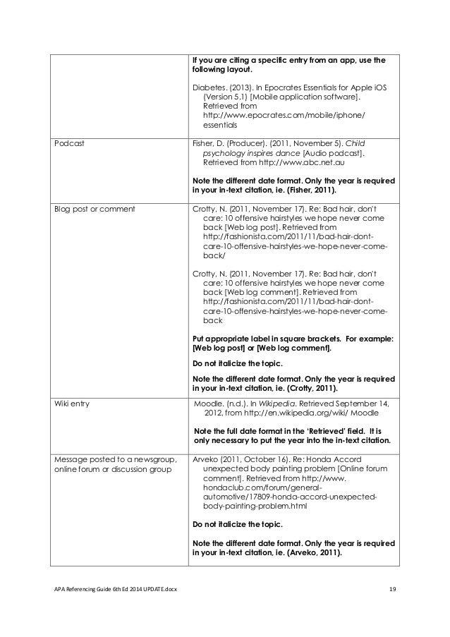 apa referencing guide websites