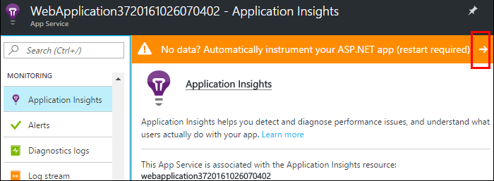 application insights instrument your application