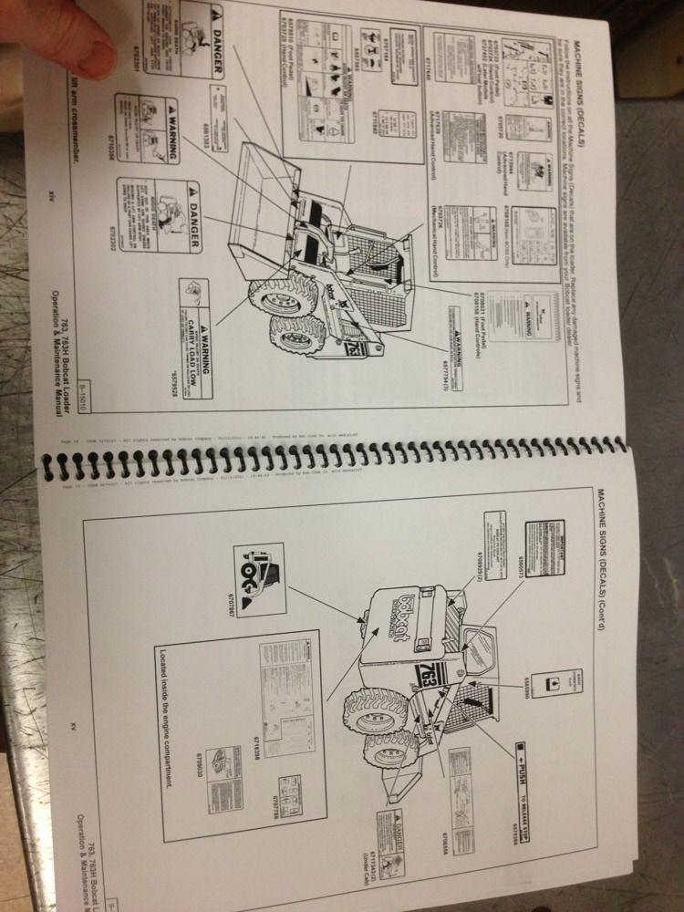 bobcat 324 operation and maintenance manual