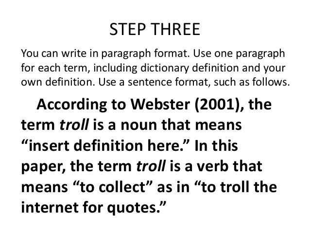 can dictionary definitions be used in essays