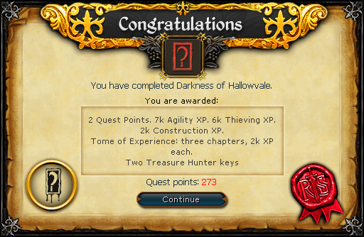 darkness of hallowvale quest guide