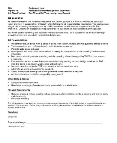 duties and responsibilities of general manager operations pdf